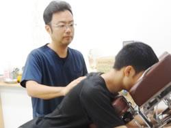 肩の痛み施術